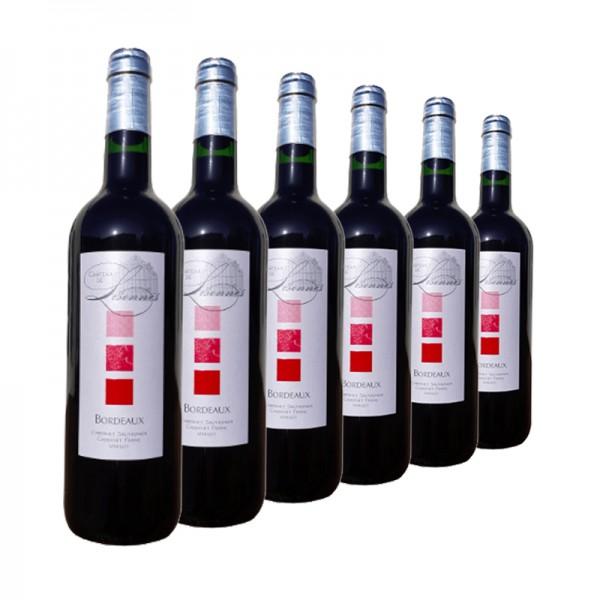 6 Flaschen Château de Lisennes A.O.C Bordeaux Rot