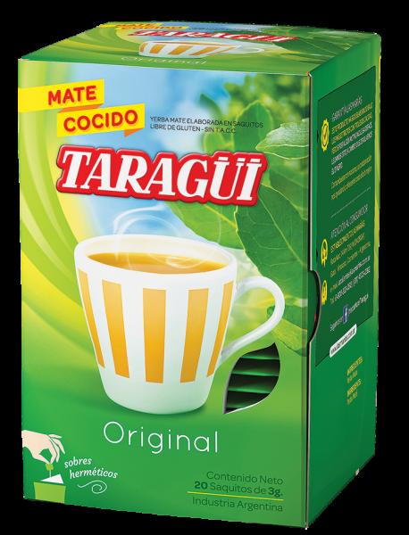 TARAGÜI Yerba Mate/ Mate Tee ohne Stängel in Teebeutel (20x3g)