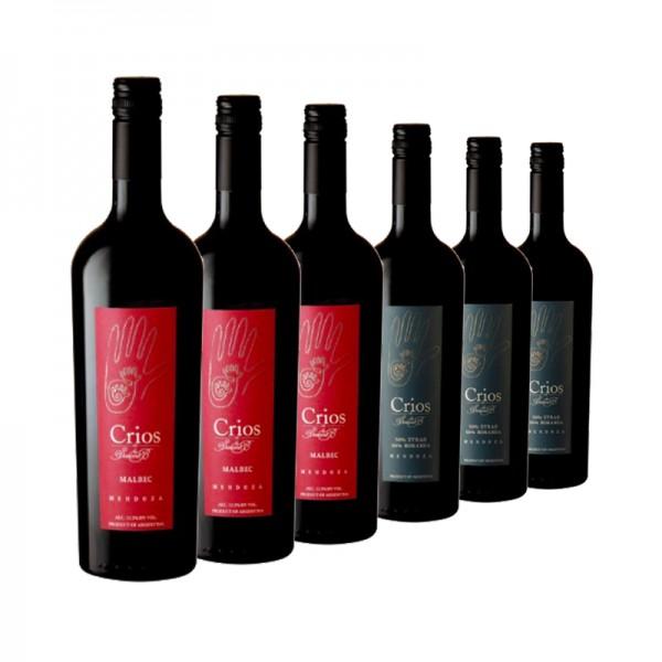 6 Flaschen Crios (3x Malbec, 3x Syrah-Bonarda)